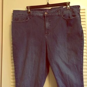 Not Your Daughters Jeans Straight Fit 24W Blue